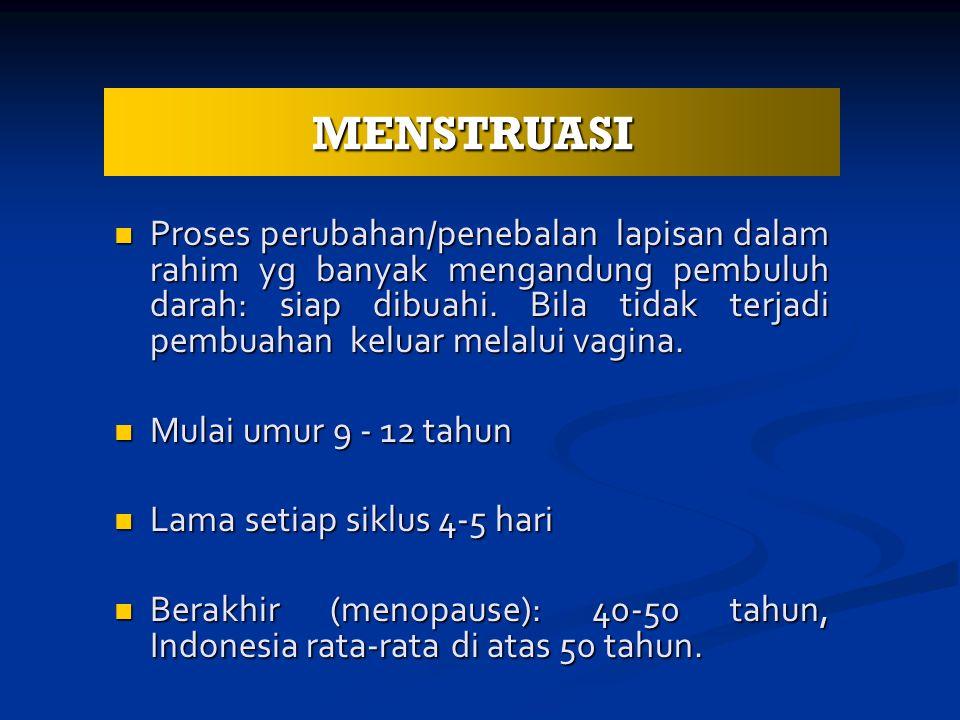 Proses perubahan/penebalan lapisan dalam rahim yg banyak mengandung pembuluh darah: siap dibuahi.