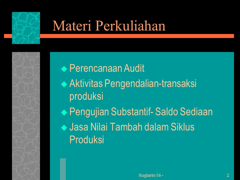 Sugiarto 16 -23 Initial Procedures  1.