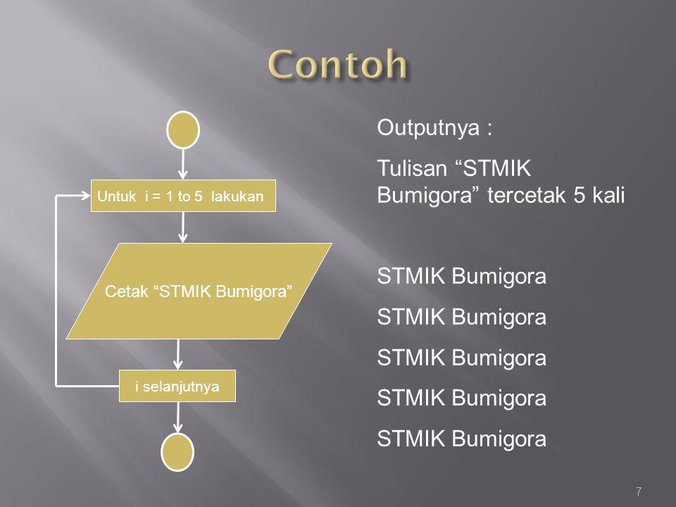1.Tuliskan program yang menghasilkan output sebagai berikut : 01 12 24 38 416 532 664 T.