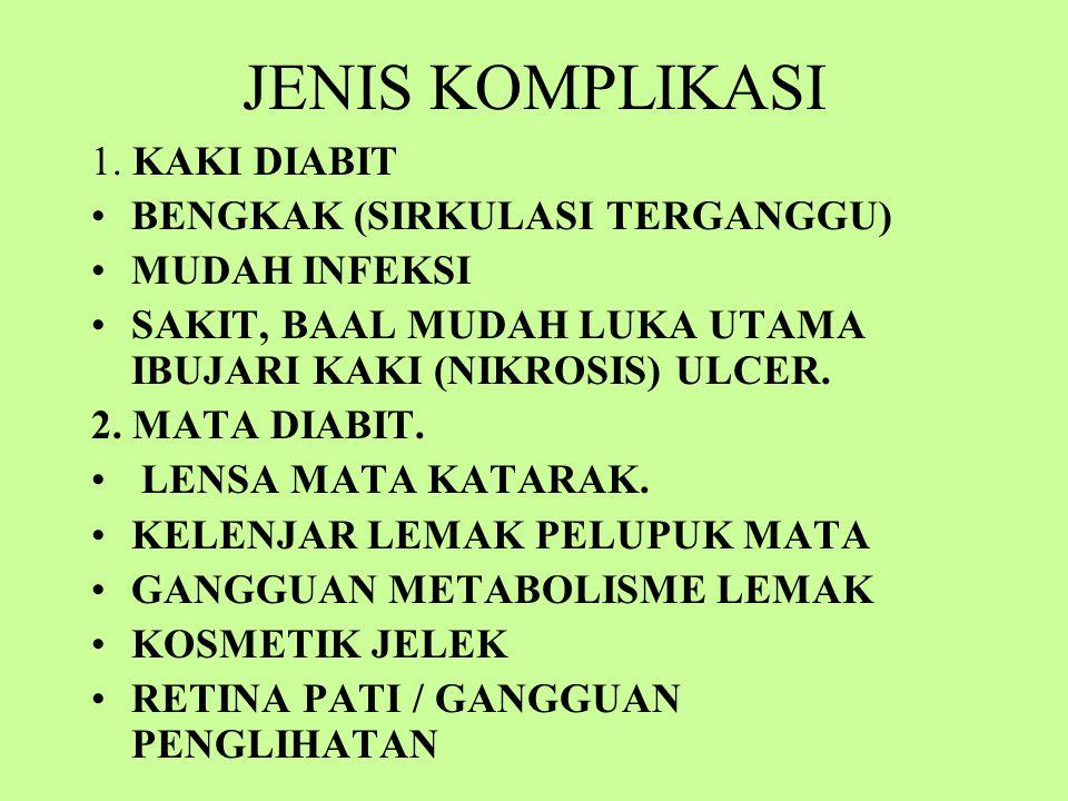 JENIS KOMPLIKASI 1.