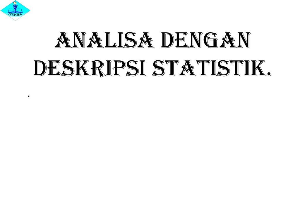 Analisa dengan Deskripsi Statistik..