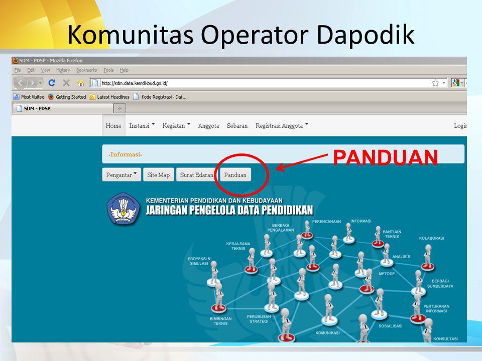 Komunitas Operator Dapodik PANDUAN