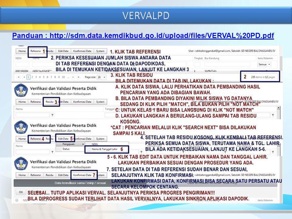 Panduan : http://sdm.data.kemdikbud.go.id/upload/files/VERVAL%20PD.pdf
