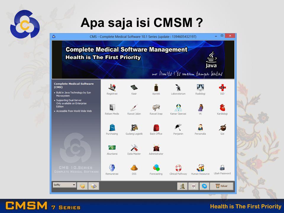 Apa saja isi CMSM ?