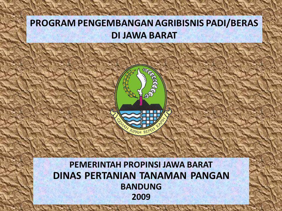 PROGRAM PENGEMBANGAN AGRIBISNIS PADI/BERAS DI JAWA BARAT PEMERINTAH PROPINSI JAWA BARAT DINAS PERTANIAN TANAMAN PANGAN BANDUNG 2009