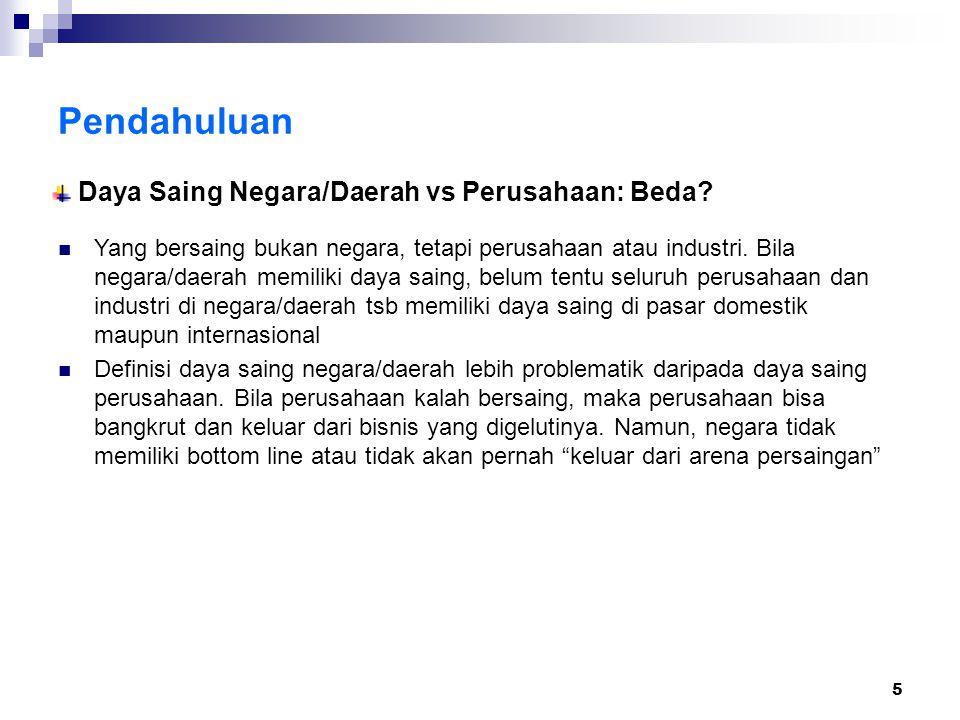 6 Daya Saing Nasional Posisi Indonesia 2004-2005 (turun dr 58 ke 59 dr 60 ngr) Lima Negara Terendah Lima Negara Tertinggi
