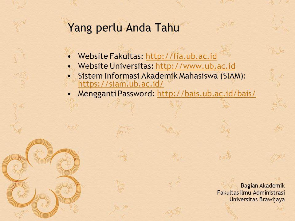 Langkah Akses terhadap SIAM Online (1) Buka bais.ub.ac.idbais.ub.ac.id Masukkan user id (NIM Anda) dan password yang sudah diberikan Isi semua field yang diminta sesuai kondisi yang sebenarnya.