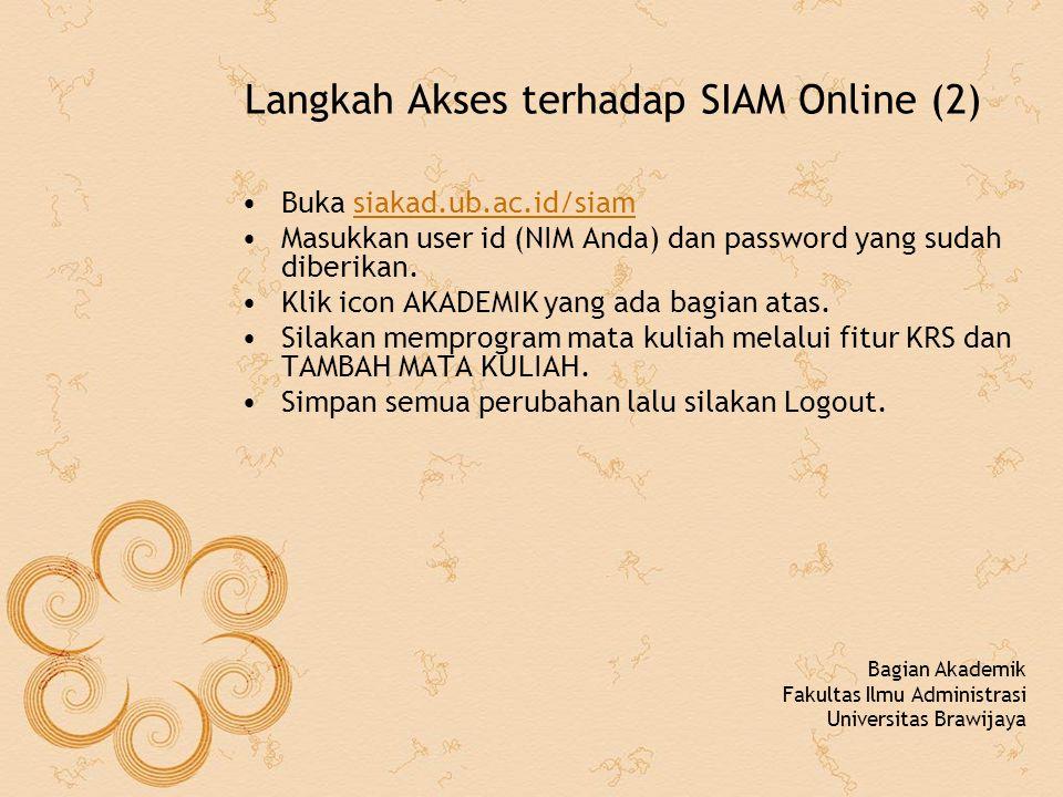 Gambar Informasi Jadwal Kuliah Bagian Akademik Fakultas Ilmu Administrasi Universitas Brawijaya