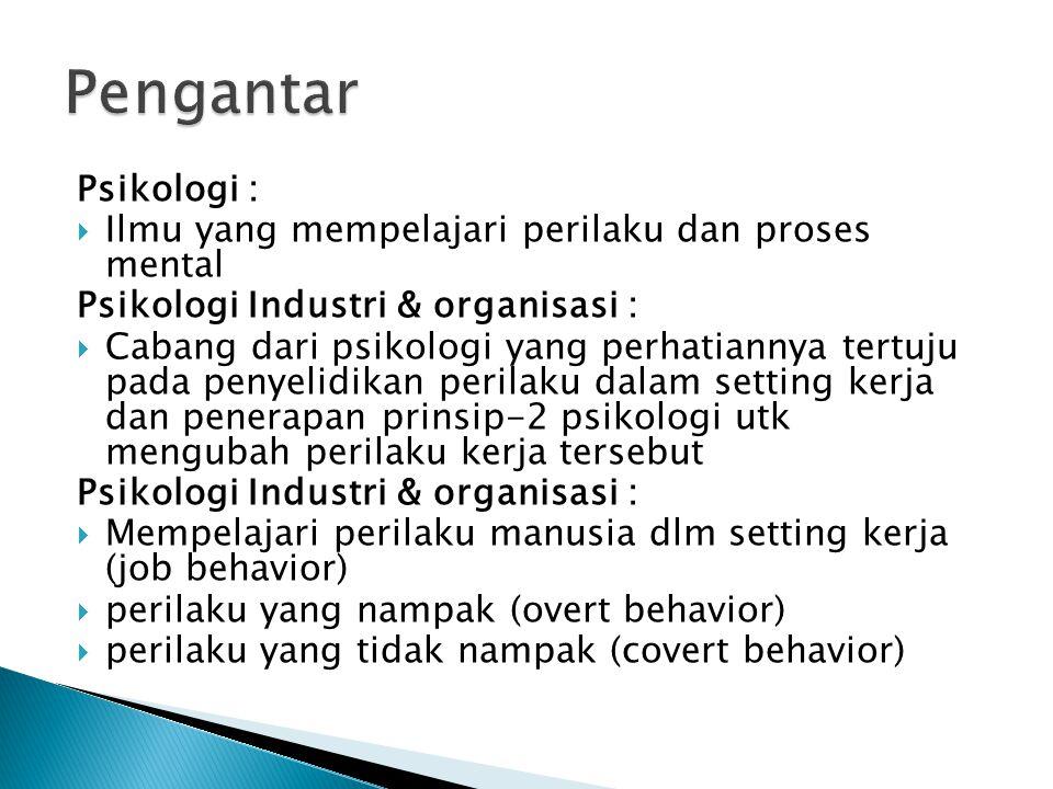  person & person  person & group  person & object : orang dgn alat/fasilitas  problem of the inner man himself : masalah pribadi exp : stres krn ketidakpuasan kerja, dll