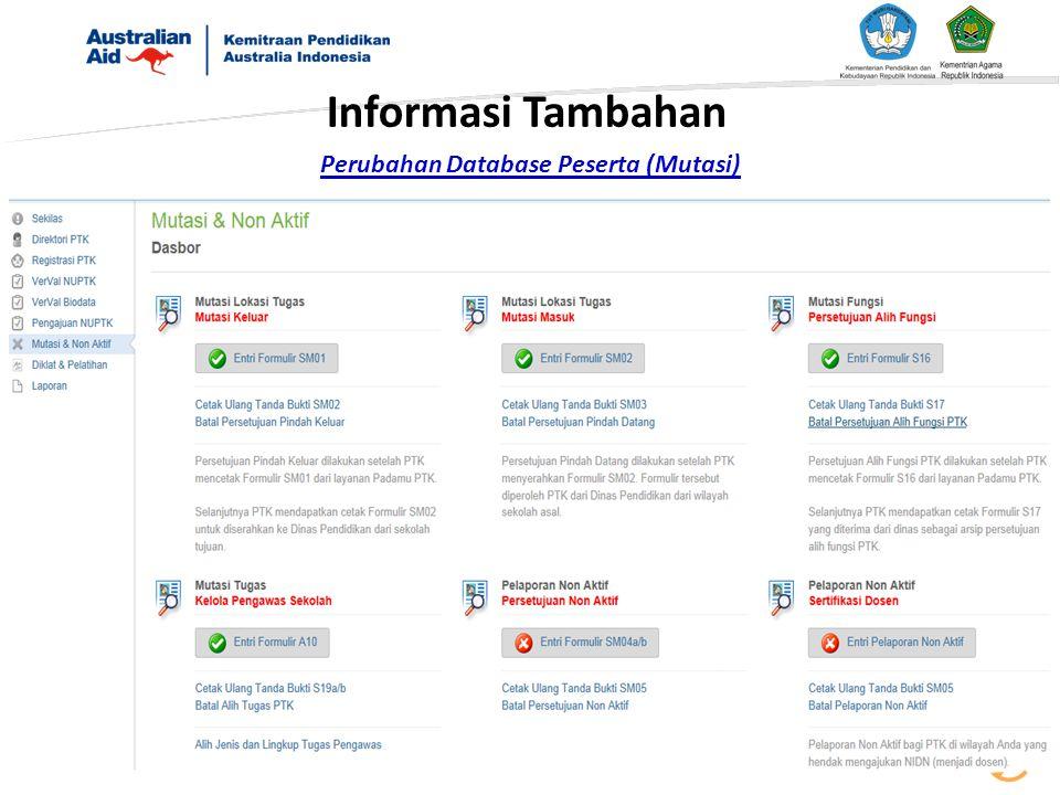 Informasi Tambahan Perubahan Database Peserta (Mutasi)