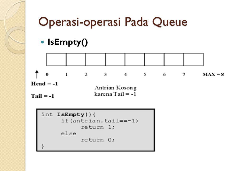 Operasi-operasi Pada Queue IsEmpty()