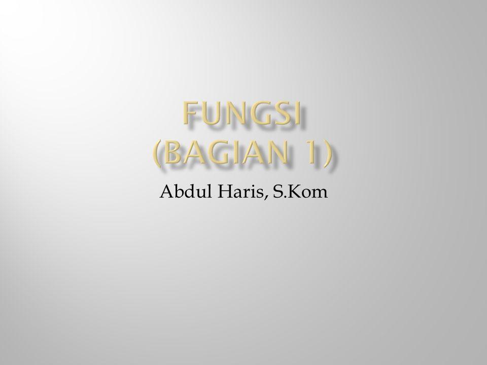 Abdul Haris, S.Kom