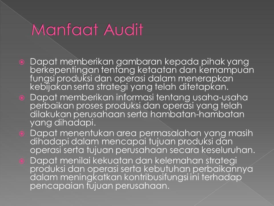  Audit pendahuluan. Review dan pengujian terhadap pengendalian manajemen.