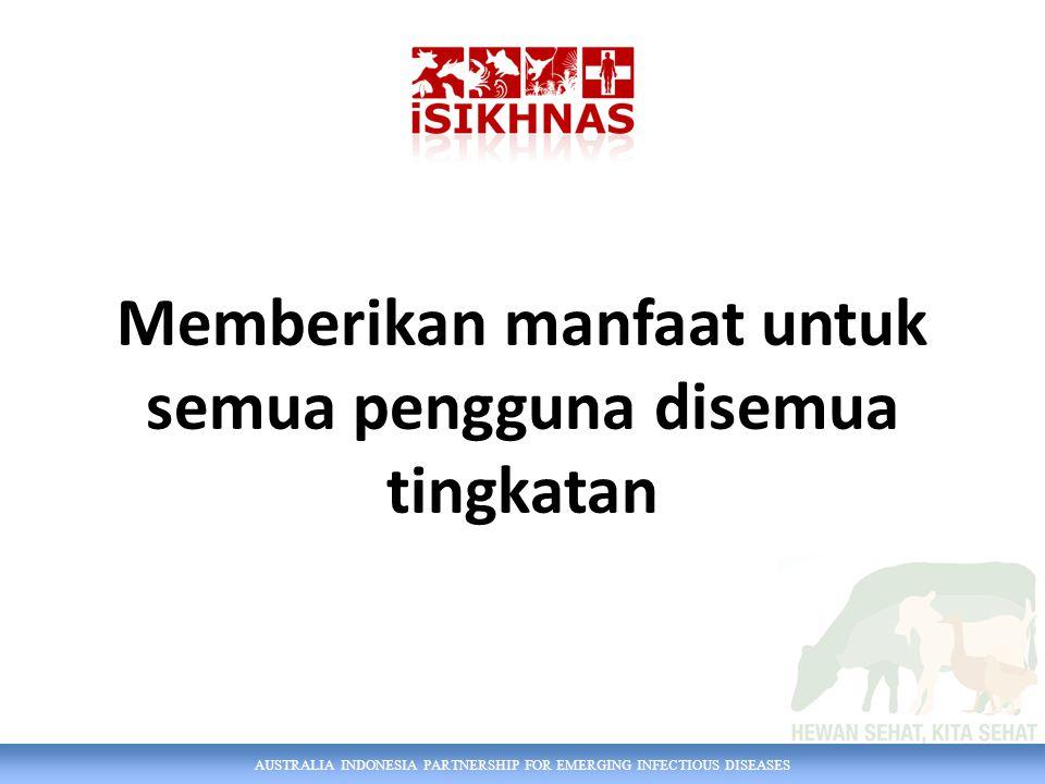 AUSTRALIA INDONESIA PARTNERSHIP FOR EMERGING INFECTIOUS DISEASES Memberikan manfaat untuk semua pengguna disemua tingkatan