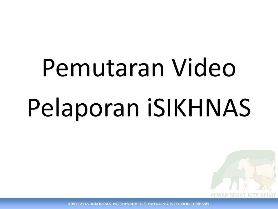 AUSTRALIA INDONESIA PARTNERSHIP FOR EMERGING INFECTIOUS DISEASES Pemutaran Video Pelaporan iSIKHNAS