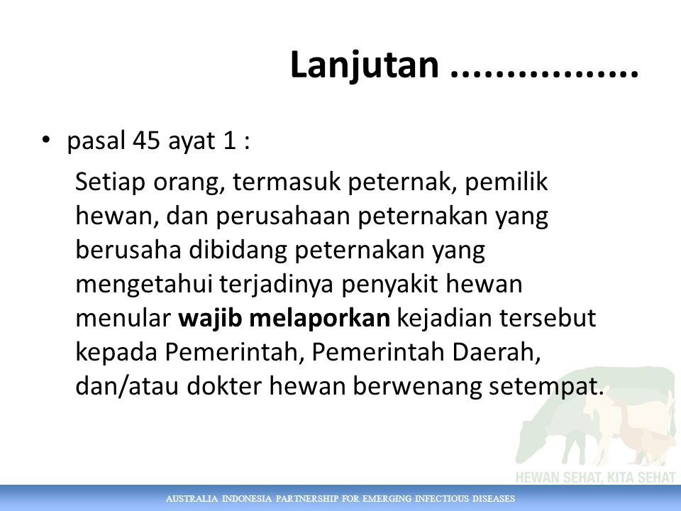 AUSTRALIA INDONESIA PARTNERSHIP FOR EMERGING INFECTIOUS DISEASES Modul 8.