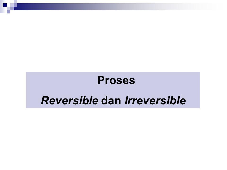 Proses Reversible dan Irreversible