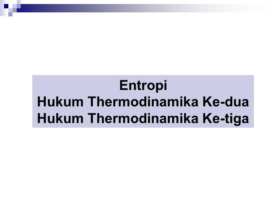 Entropi Hukum Thermodinamika Ke-dua Hukum Thermodinamika Ke-tiga