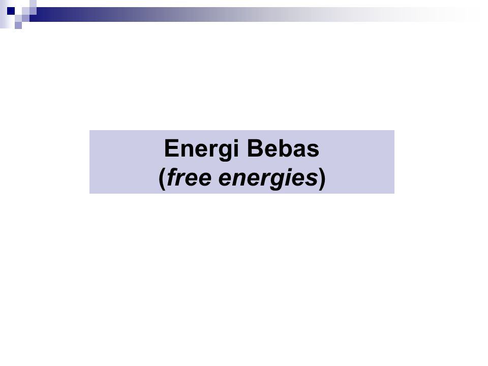 Energi Bebas (free energies)