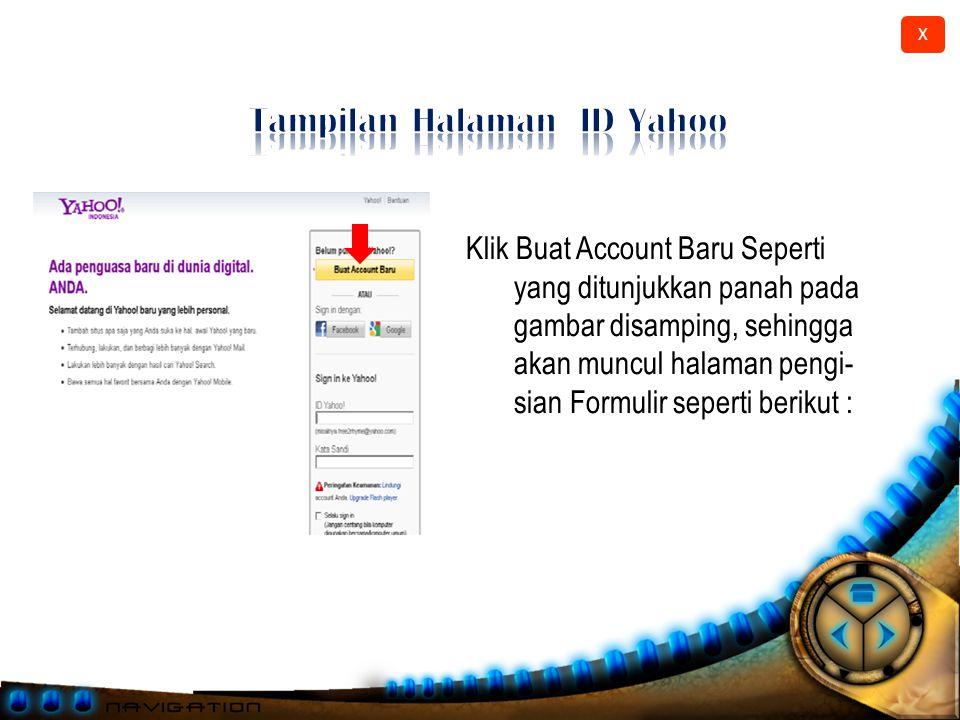 X Klik Mail Seperti yang ditunjukkan panah pada gambar diatas Maka akan tampil gambar seperti berikut :