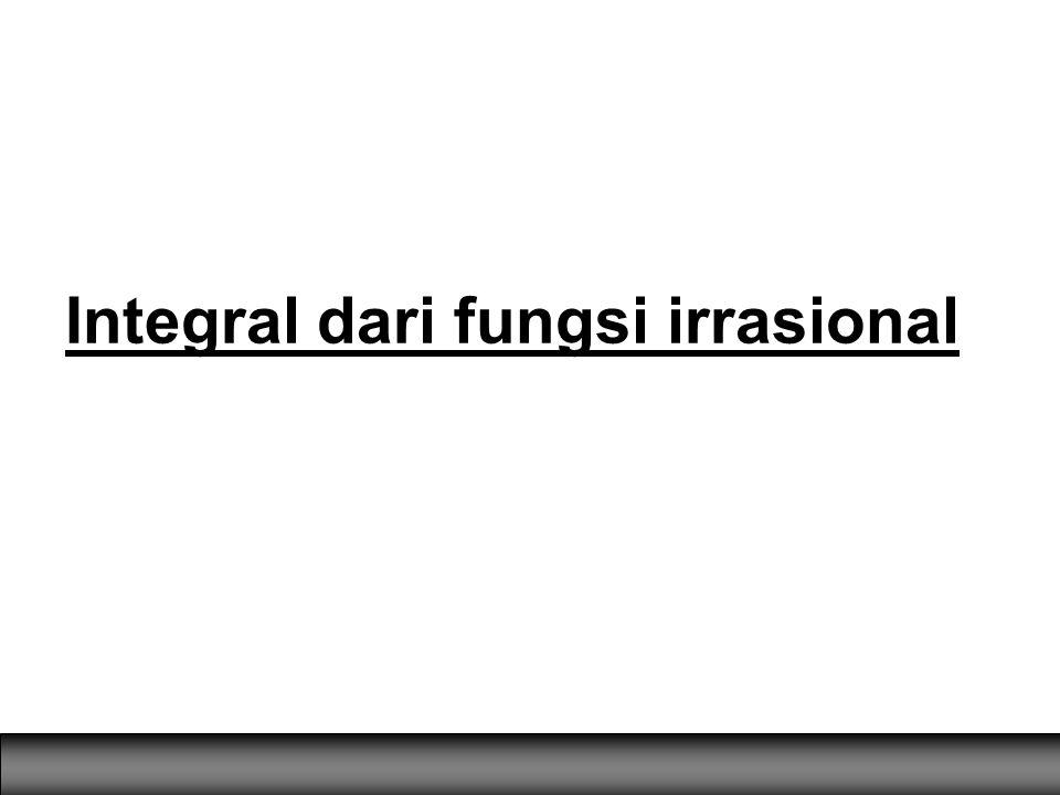 Integral dari fungsi irrasional