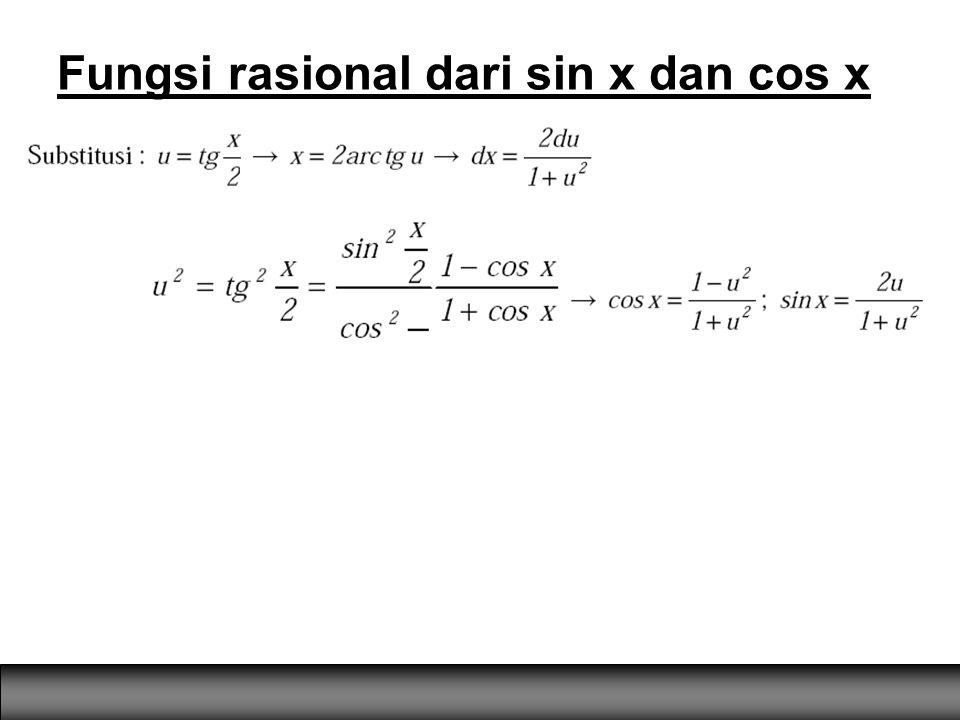 Fungsi rasional dari sin x dan cos x