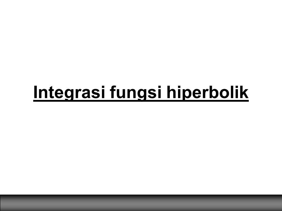 Integrasi fungsi hiperbolik
