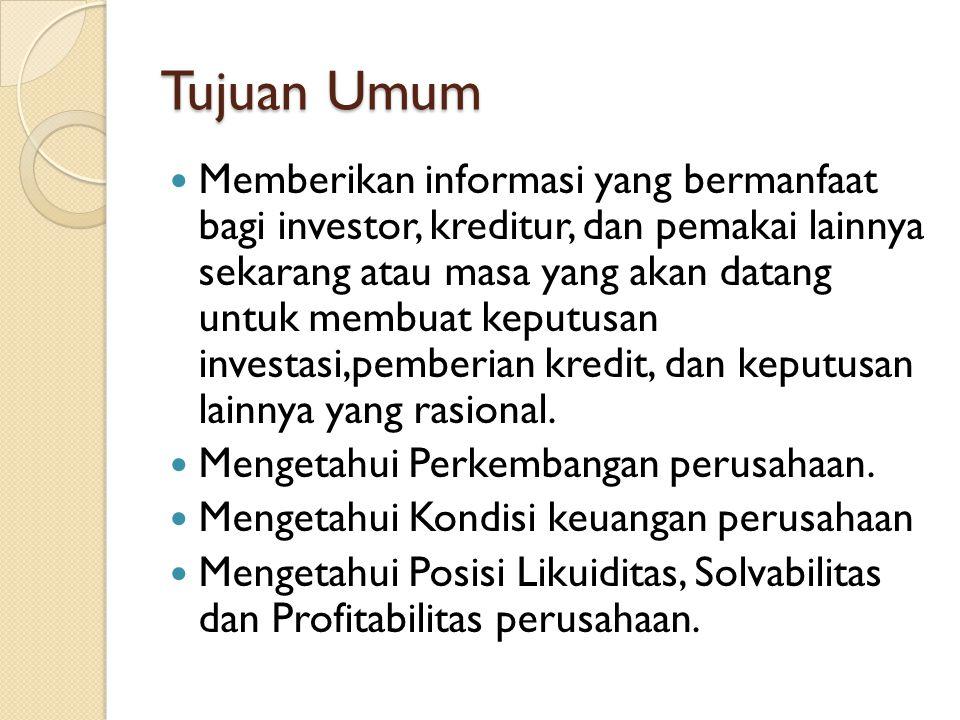 MACAM LAPORAN KEUANGAN Ada 3 macam Laporan Keuangan yang Pokok 1.
