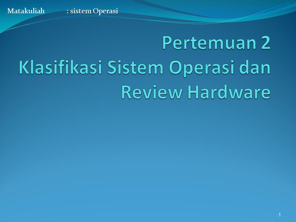 Matakuliah: sistem Operasi 1