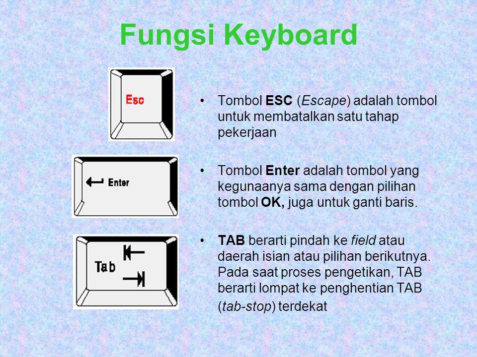 PENGGUNAAN MOUSE Clik (Klik) dengan cara menekan tombol mouse satu kali dengan cepat.