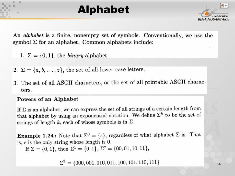Alphabet 14