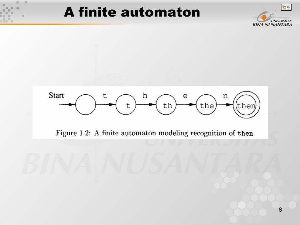 A finite automaton 6