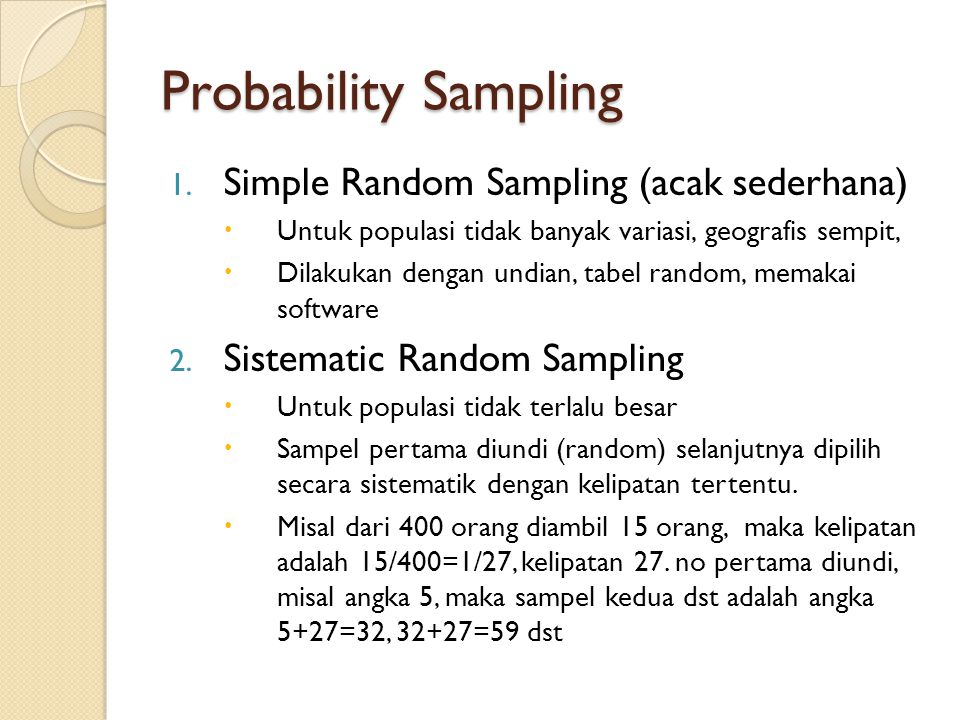 Probability Sampling 1.