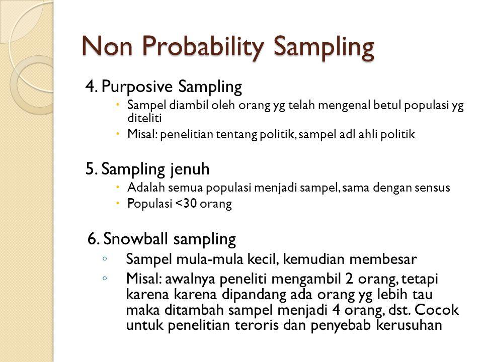 Non Probability Sampling 4.