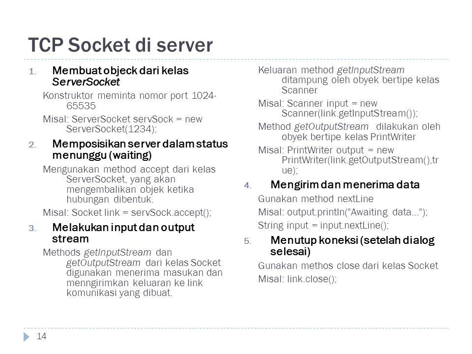 TCP Socket di server 14 1.