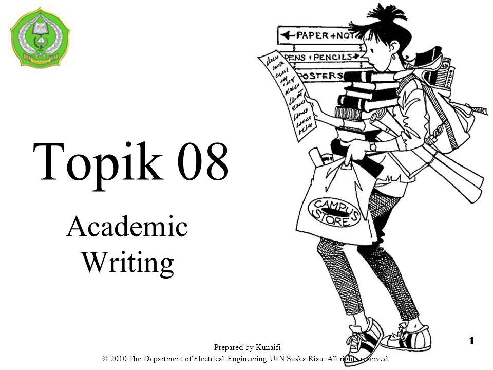 Jenis Artikel Akademik  Secara umum ada dua jenis tulisan akademik: 1.Deskriptif: menjelaskan suatu hal/masalah/sistem dengan mengemukakan poin-poin penting.