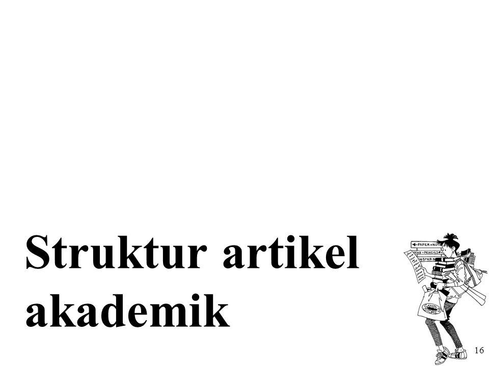 Struktur artikel akademik 16