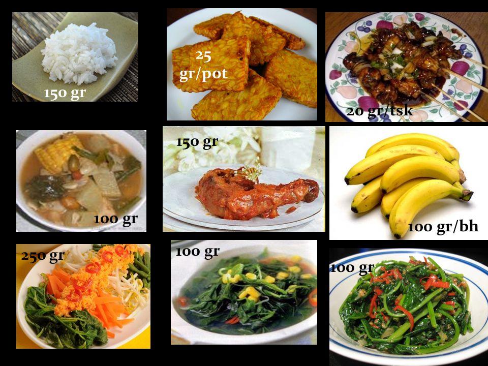 150 gr 25 gr/pot 20 gr/tsk 100 gr 150 gr 100 gr/bh 250 gr 100 gr