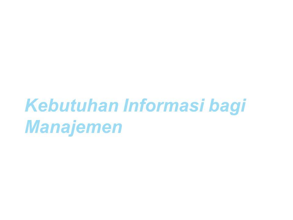 Kebutuhan Informasi bagi Manajemen Muhammad Firdaus