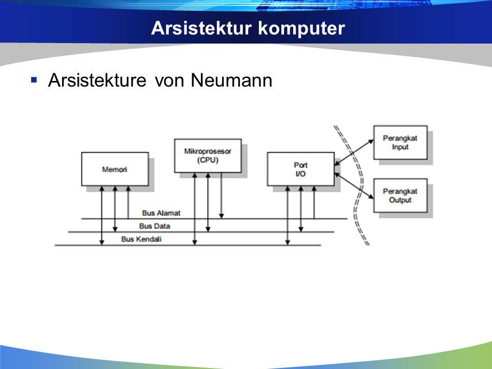 Arsistektur komputer  Arsistekture von Neumann