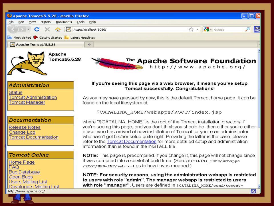 Java Virtual Machine Sebelum menginstal Web Container sebagai prasyarat untuk menjalankan JSP, maka terlebih dulu harus menginstal Java Virtual Machine.