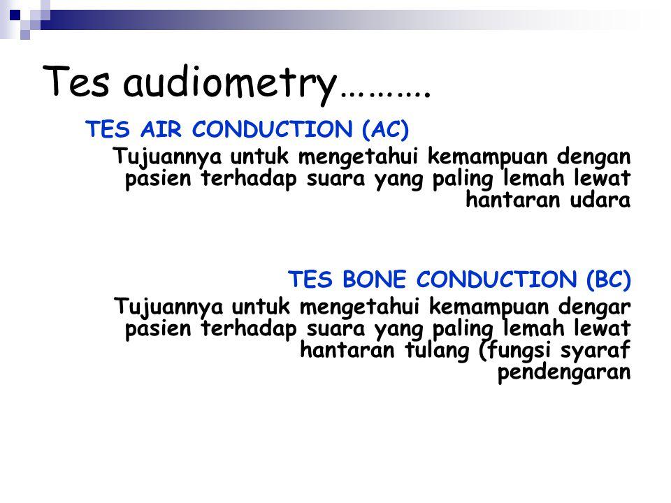 Audiometer Bagian-bagian audiometer :  Head phone dengan kode : a. Warna merah untuk telinga kanan b. Warna biru untuk telinga kiri  Switch Indikato