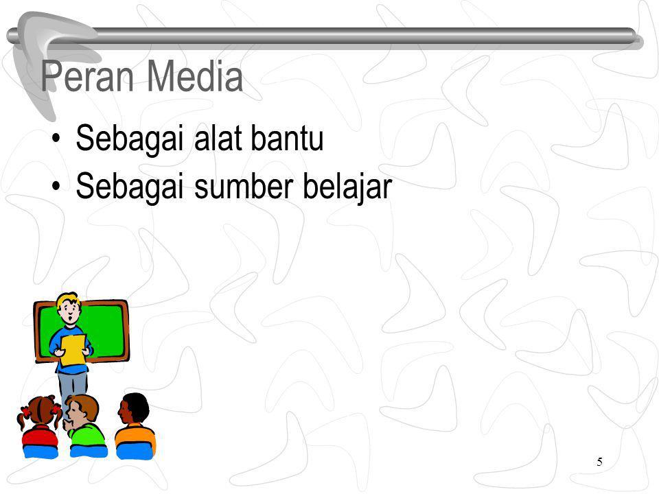 5 Peran Media Sebagai alat bantu Sebagai sumber belajar