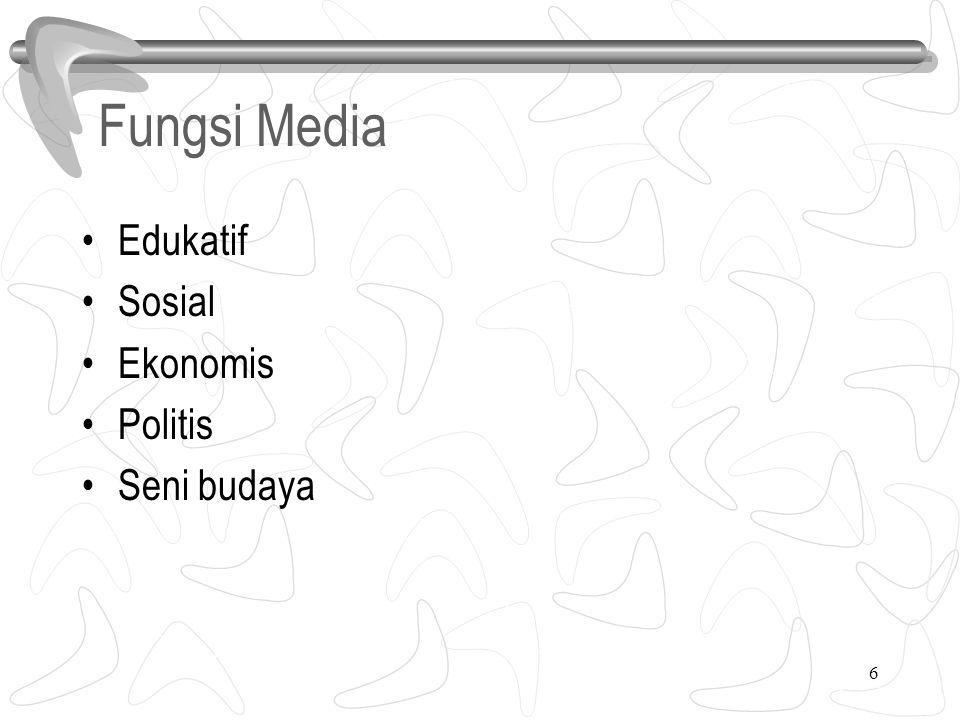 6 Fungsi Media Edukatif Sosial Ekonomis Politis Seni budaya