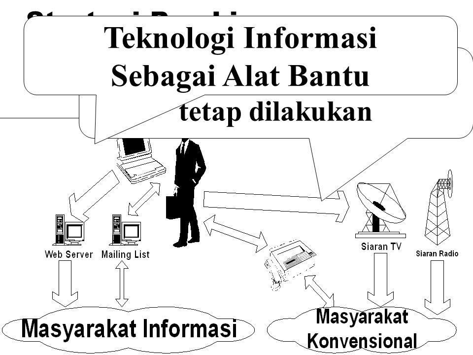 Strategi Pembinaan Bahasa Pendekatan Konvensional tetap dilakukan Teknologi Informasi Sebagai Alat Bantu