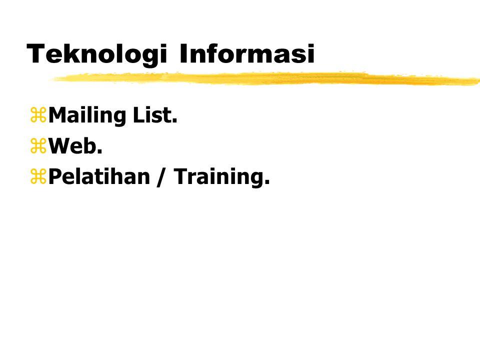 Teknologi Informasi zMailing List. zWeb. zPelatihan / Training.