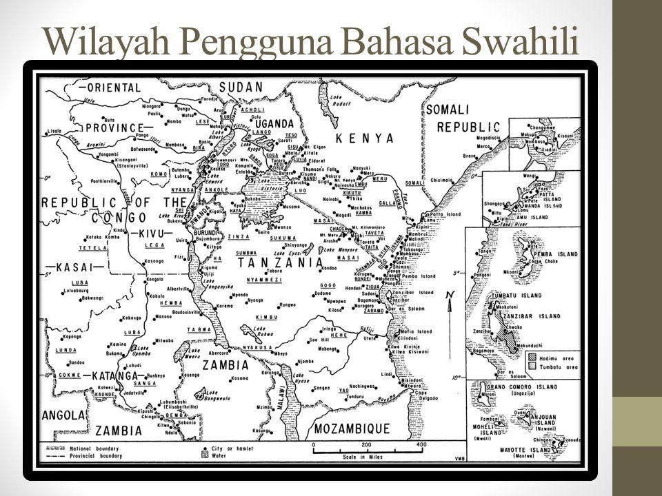 Swahili A.Dimana dan oleh siapa bahasa Swahili dituturkan .