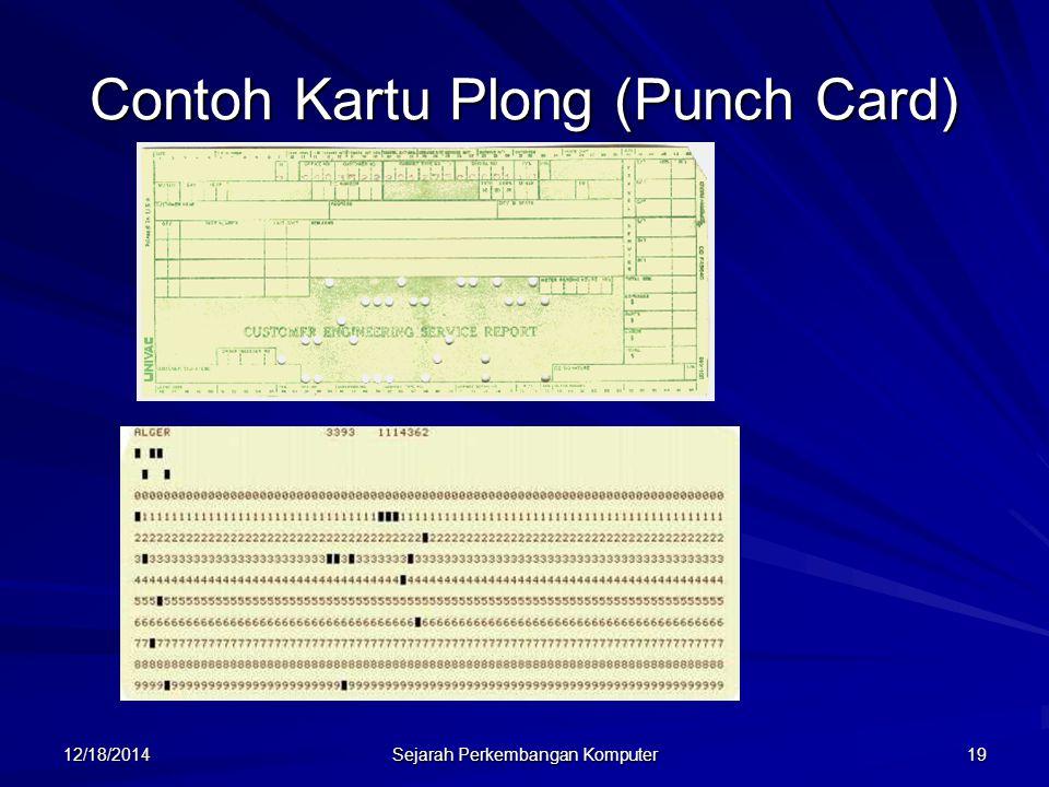 12/18/2014 Sejarah Perkembangan Komputer 20 Harvard Mark I: Komputer electro-mechanis