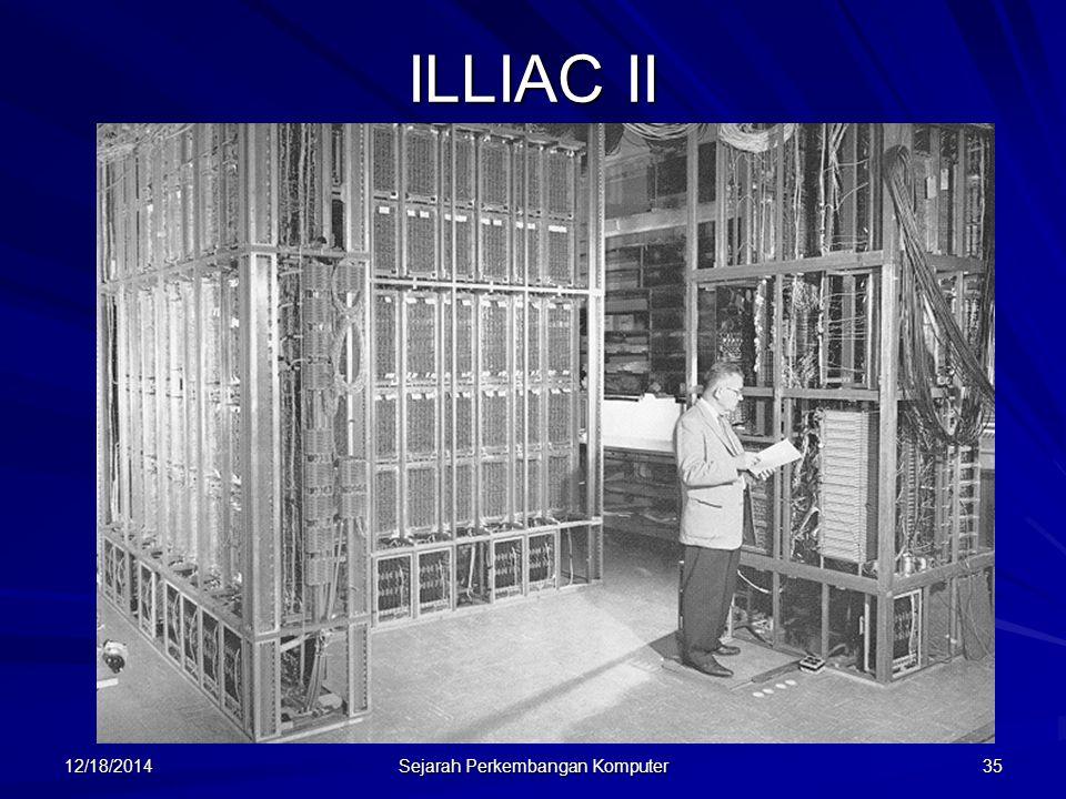 12/18/2014 Sejarah Perkembangan Komputer 35 ILLIAC II