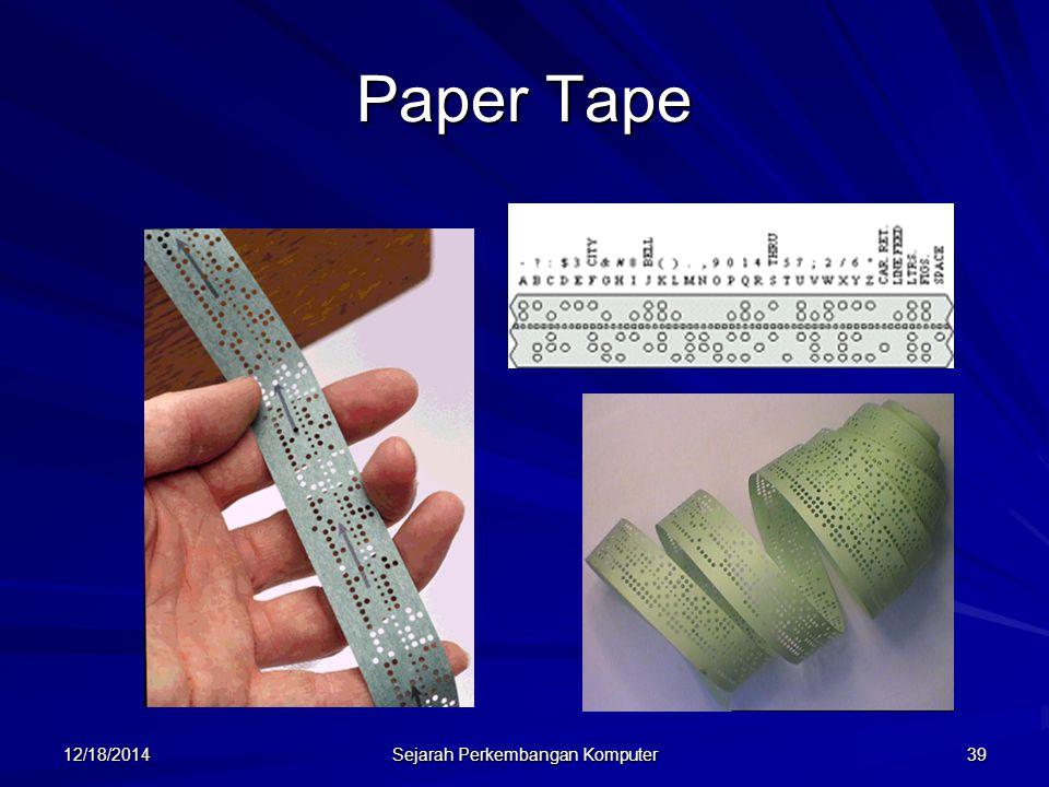 12/18/2014 Sejarah Perkembangan Komputer 39 Paper Tape
